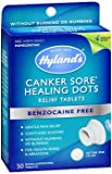 Hyland's Canker Sore Healing Dots Quick Dissolving Tablets - 50 ct, Pack of 6