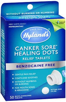 Hyland's Canker Sore Healing Dots Quick Dissolving Tablets - 50 ct, Pack of 2
