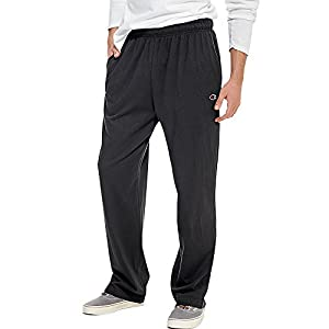 Champion Authentic Men's Open Bottom Jersey Pants Light Weight Sweatpant