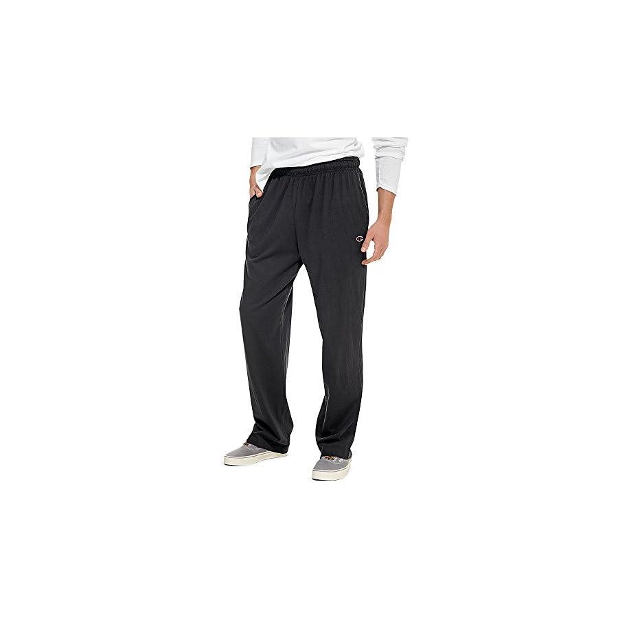Champion Authentic Men's Open Bottom Jersey Pants Light Weight Sweatpant