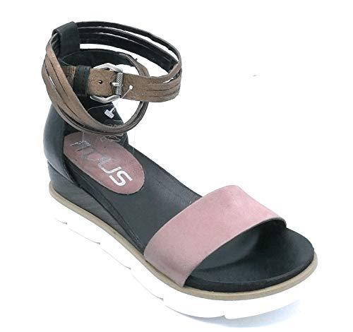 866005 Pelle Taglia Cinturno Sandalo Antico Colore Nero 38 Mjus Zeppa Bronzo rosa Scarpa AdxqnwqzHg