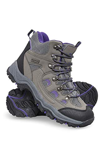 Mountain Warehouse Adventurer Womens Waterproof Hiking Boots Grey Womens Shoe Size 9 US