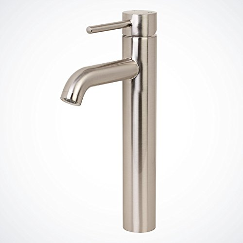 - GotHobby Euro Modern Brushed Nickel Bathroom Vessel Sink Faucet Single Handle Lavatory