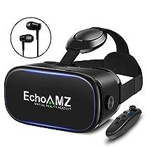 EchoAMZ 3D VRゴーグル 「イヤホン、Bluetoothコントローラ、日本...