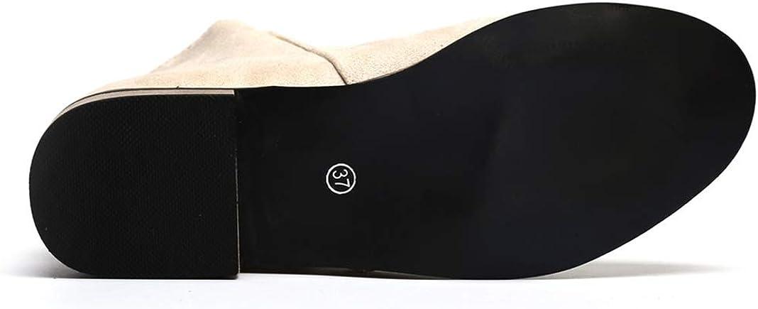Daim 5cm Chelsea Femme Noir Chaussures Beige 2 Basse Cuir Compensées Grande Bottes Boots 43 Femmes Chic Plates 35 Taille Talon EU Bottine WDHYeEI29b