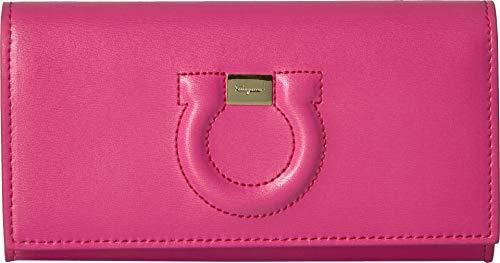 (Salvatore Ferragamo Women's Gancio City Wallet on a Chain, Bubble Gum, Pink, One Size)