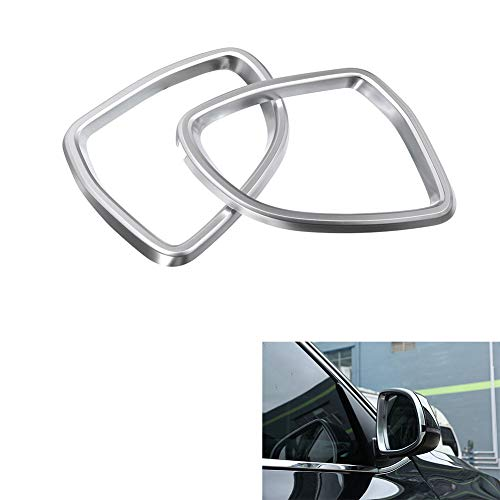 AUTO Pro for The New BMW X5/X6 Side Rearview Mirror Cover Frame Trim Sticker Accessories, ABS Matte Chrome-Plated car Interior Modification Accessories