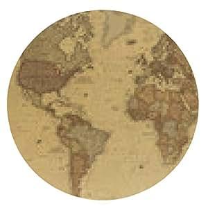 alfombrilla de ratón mapa del mundo antiguo - ronda - 20cm