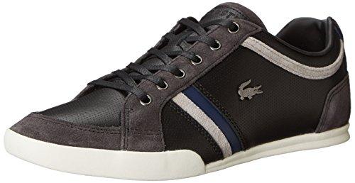 Lacoste Men's Rayford 6 Fashion Sneaker, Black/Dark Gray, 8.5 M US