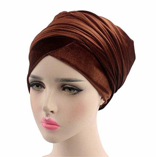 - Qhome Luxury Pleated Velvet Turban Hijab Head Wrap Extra Long Tube Indian Headwrap Scarf Tie