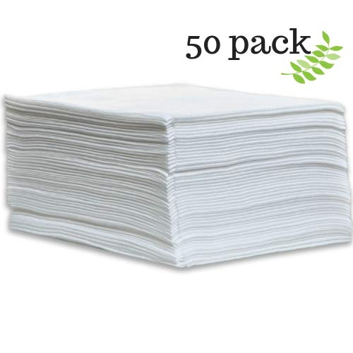 DAVELEN Disposable Large Luxury Towels (50-Count) Spa and Salon Quality Softness for Guests, Clients | Hair, Face, Body Use | Luxurious Comfort, Hygienic, Ecofriendly | Towels Size: 31.5