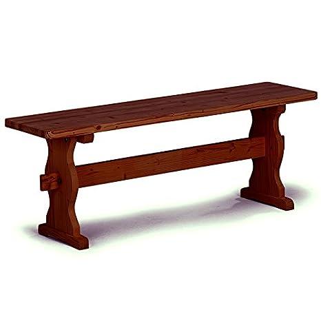 Panca per tavolo da pranzo rustico da cucina legno massello noce ...