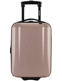 """17"""" Under Plane Seat Carry-On Luggage with Cup and Phone Convenience Holder, Rose Gold Color Option"""