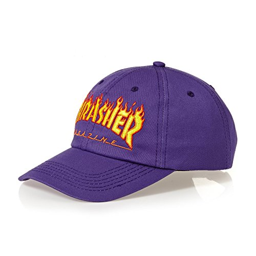 Thrasher Flame Old Timer purple Gorra