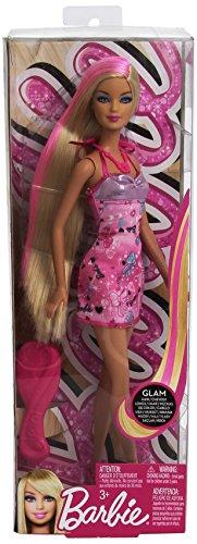 Barbie Hairtastic Pink Dress Blonde Hair Doll (Hairtastic Barbie Dolls)