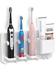 Simpletome självhäftande väggmonterad elektrisk tandborsthållare, rakhyvelhängare för badrum, förvaringslåda i ABS-plast
