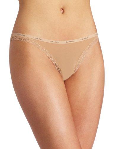 - Calvin Klein Women's Bottom's Up Thong Panty, Buff, Small