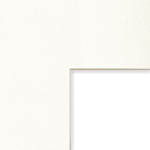 Craig Frames B505 14x16-Inch Mat, Single Opening for 9x12-Inch Image, White and Cream Pebble with Cream Core