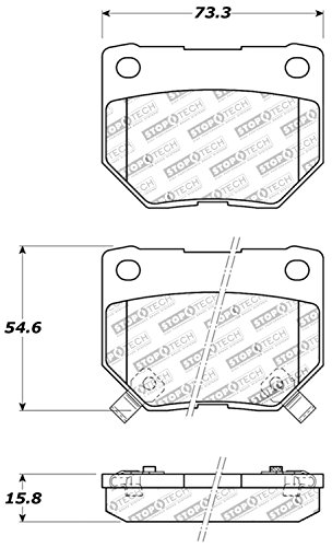 StopTech 309.04610 Street Performance Rear Brake Pad