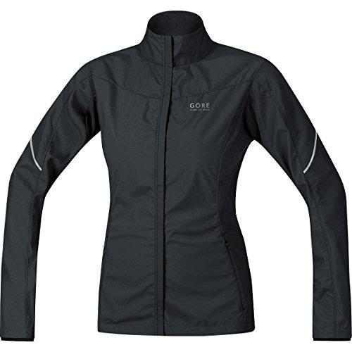 Gore Running Wear Essential Lady Windstopper Active Shell Partial Jacket - Women Black Medium