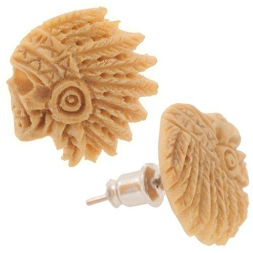 Pair of Crocodile Wood Crazy Horse Standard Earrings