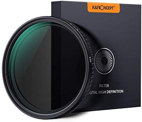 [スポンサー プロダクト]可変NDフィルター 77mm X状ムラなし ND8-ND128フィルター 薄型 減光 レンズフィルター K&F Concept【メーカー直営店】