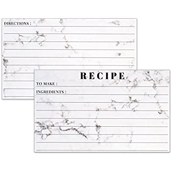 Amazoncom Recipe Cards 3x5 Marble Lined Note Card For Recipes