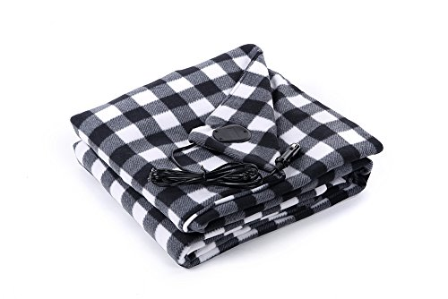 BARCOCASE Quality Polar Fleece Heated Travel Blanket for Aut
