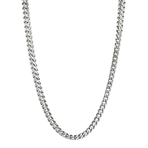 Lavari - Stainless Steel Thin Foxtail Chain Necklace 22