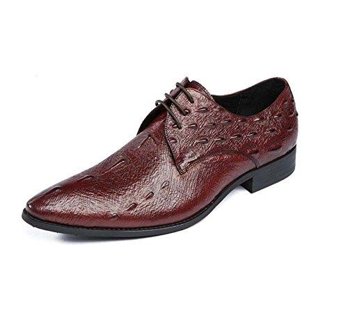Negocios Tamaño Hombres de Cómodo a Verano Presión atmosférica Presión Flor Zapatos Vestir con Zapatos 42 Color para Marrón Nuevo a de xt4Cqn