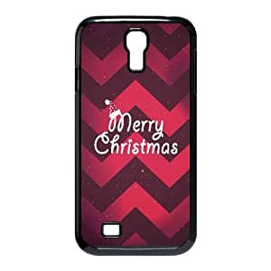 Merry Christmas Hat and Red Pattern Samsung Galaxy S4 9500 Cell Phone Case Black phone component AU_625780