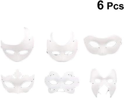 Coxeer White Masks 12PCS DIY Unpainted Masquerade Masks Plain Half Face Masks