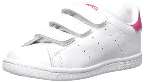 Price comparison product image adidas Originals Girls' Stan Smith CF I Sneaker, White/White/Bold Pink, 7 M US Toddler