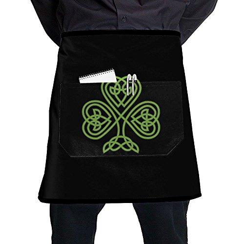 St Josephs Subiaco Saint Patrick's Day 2016 Home Cooking Kitchen Half Body Waist Aprons Sewing Pocket Apron ()