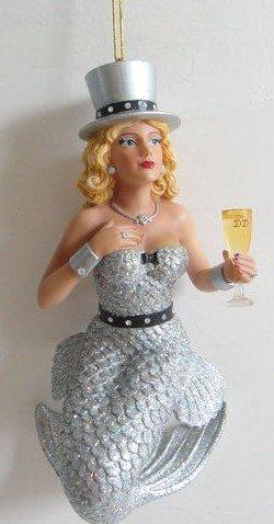 December Diamonds Miss Champagne Mermaid Ornament