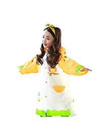 Kids Raincoat for Girls and Boys, Children's Waterproof Rainwear with Backpack Cover