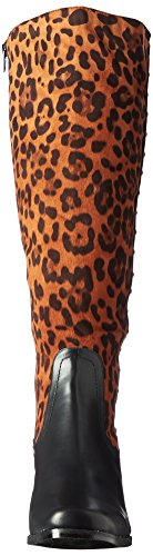 Calf Boot Leopard Women's Riding Annie Shoes Mobile Black Wide 8pZWWIRBq