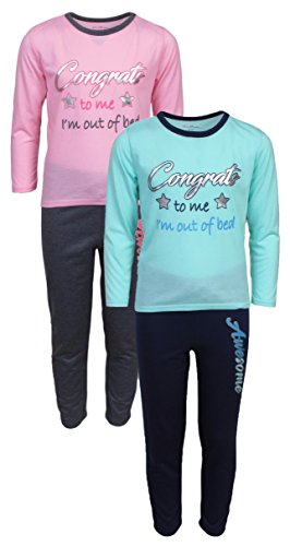 dELiAs dELiAs Girls Pajama Sleepwear Sets Long Sleeve Shirts With Pants, Congrats, Size 14-16, 14-16, Congrats ()