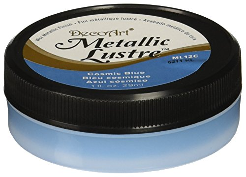 DecoArt Metallic Lustre Wax Finish, 1 oz, Cosmic Blue