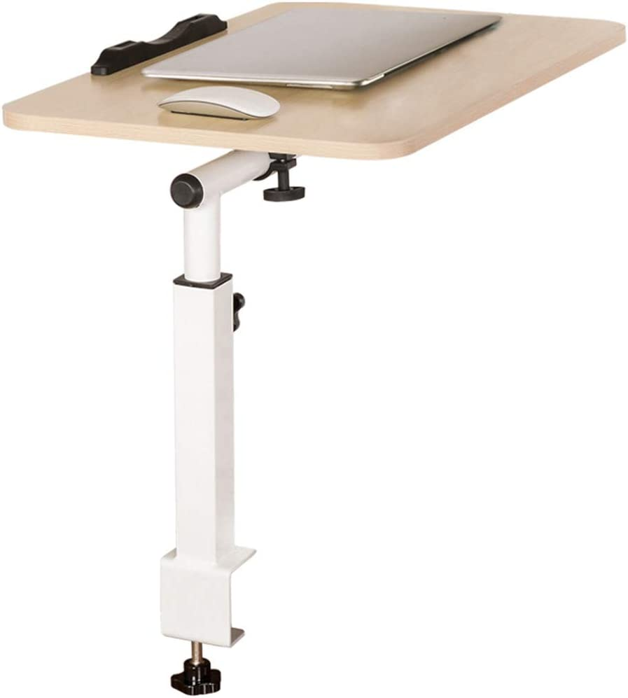 DPS/&RXX Laptop Desk Adjustable Portable Stand Laptop Table Mobile Laptop Stand Desk Modern Furniture for Home Office Retro Color,Brown