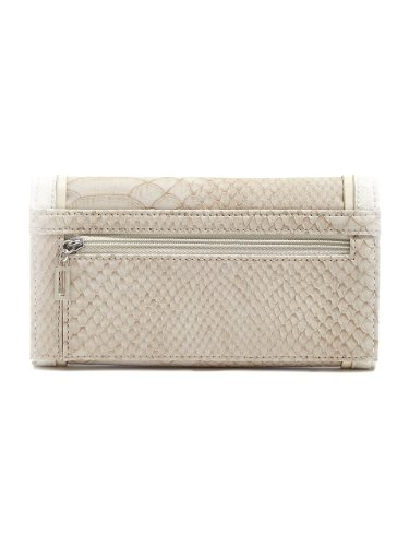 G by GUESS Women's Galena Slim Wallet, CHALK