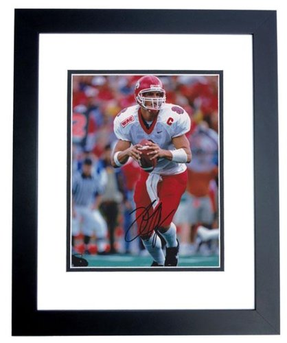 David Carr Autographed Photo - Fresno State Bulldogs 8x10 BLACK CUSTOM FRAMED #1 Overall Draft Pick - PSA/DNA Certified