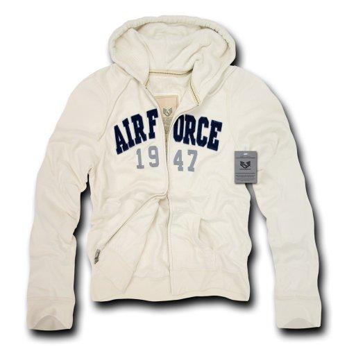 Rapiddominance Air Force DeLuxe Zip Up Hoodie, Cream, X-Large ()