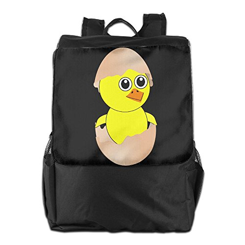 Bear Carrying On Shoulders Costume (Olasy Funny Chick With Eggshell Hat Messenger Bag Shoulder Backpack Travel Hiking Rucksack For Womens Mens Boys Girls School Bookbags One Size)