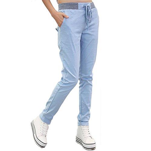 Nonbrand - Pantalón - chino - para mujer Azul