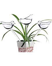 Ahhute Glass Watering Globe - 3 Pack Plant Watering Bulbs - Bird Shape self Watering for Indoor and Outdoor Plants