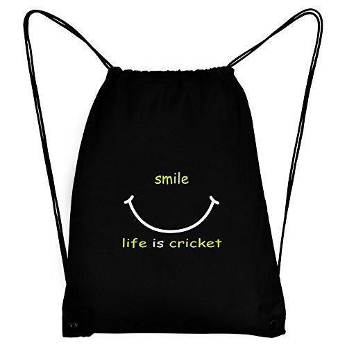 Teeburon SMILE LIFE IS Cricket Sport Bag by Teeburon