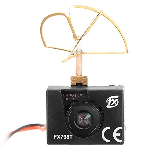 Price comparison product image Sherosa FX798T FPV Micro AIO Camera 600TVL 40CH Transmitter with Clover Antenna for FPV Drone like Blade Inductrix etc