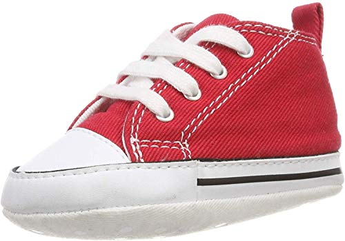 Converse All Star First Star Infant Baby Crib Trainer, Red, 3 (All Star Converse For Baby Boy)