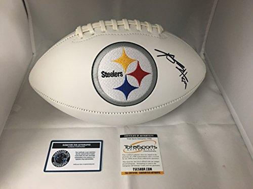 Antonio Brown Autographed Signed Pittsburgh Steelers Logo Football TSE COA & Hologram